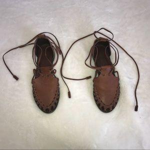 Ralph Lauren lace up sandals